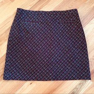 LOFT Skirts - LOFT A Line Skirt Size 8 Eggplant, Pink, Gray EUC!